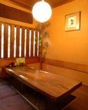 竹に囲まれた個室は7名様まで。 ご予約はお早めに!!