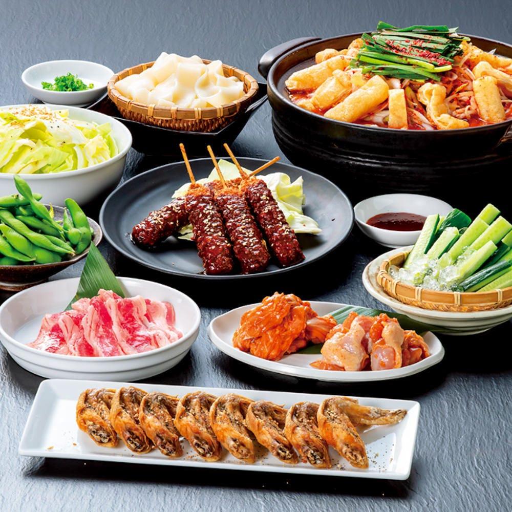 [お手軽コース]大人気の赤から鍋と焼肉が楽しめる♪お料理全10品2,800円-宴会 飲み会-