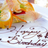 【誕生日や記念日をお祝いいたします】メッセージプレートプレゼント♪  ※コース利用限定