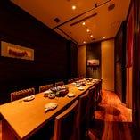 14名様用の完全個室は食事もおしゃべりも満喫したい女子会に最適