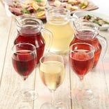 ハウスワイン(赤・白・いちごロゼ)