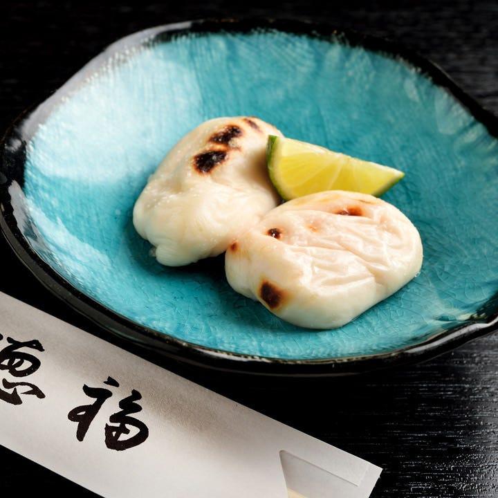 『焼き白子』は冬季(10月~3月)限定!是非ご賞味ください。