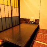 足を伸ばしていただけるこちらの個室は6名様までご利用いただけます。