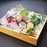 旬魚の刺身盛合せ