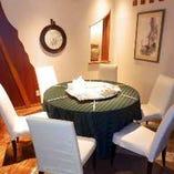 テーブル席完全個室(~6名様×2部屋)