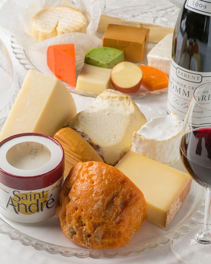 ワインに合わせたチーズ料理