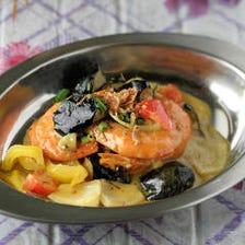 海老と茄子のココナッツミルク煮