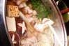 地鶏の「京風白すき焼き」