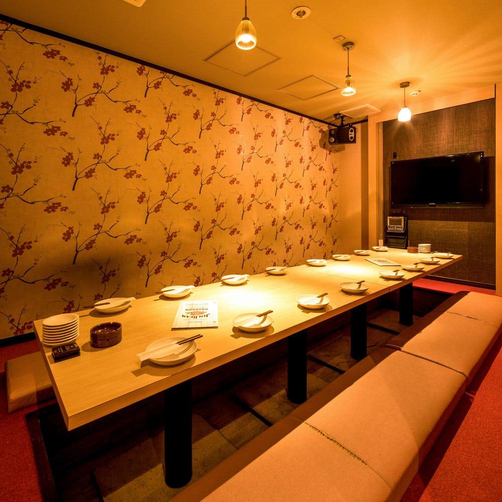 テーブル席・完全個室(壁・扉あり)・10名様~12名様