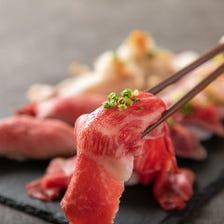 膳屋新名物!肉寿司食べ比べ!
