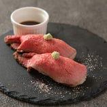 肉寿司(ローストビーフ)