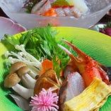 岡山の旬食材を使った料理の数々をご用意