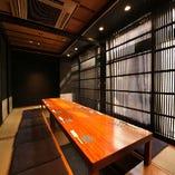和の雰囲気溢れる掘りごたつ個室は最大10名様まで