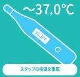 ◆スタッフの検温の徹底