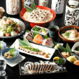 炙り〆鯖に、ぶりカマ、蕎麦などコースは名物が盛りだくさんです