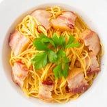 【期間限定】イベリコ豚ベーコンの旨辛ペペロンチーノ