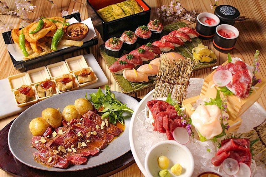 選べるコース「とり野菜鍋か馬のステーキ4500円」120分飲み放付※馬刺し⇒カルパッチョに可・要予約
