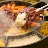 チーズトゥンカルビのコースはみんなでわぃわぃ巻いて楽しい!
