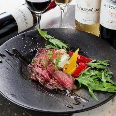 国産牛ハラミのタリアータ赤ワインソース