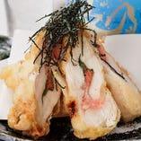 ささみと明太子のしそ巻きチーズ天ぷら