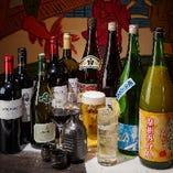 アラカルトにもお付けできる飲み放題コースは種類豊富な50品以上