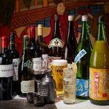 飲み放題コースはほぼ店内ドリンク全品が注文可能