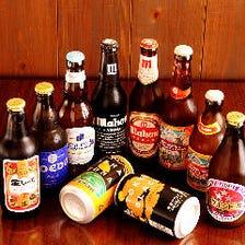 厳選クラフトビールを十数種ご用意。
