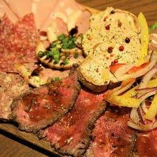 【5000円コース】肉、魚をガッツリ楽しめる『プレミアムコース』乾杯スパークリング&2.5h飲み放題付
