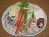 広島産大粒かきとほたてのうどんすき