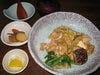 奈良産ネギと大和肉鶏のすき焼き風丼