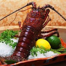 オマール海老 新鮮な魚介類をご堪能