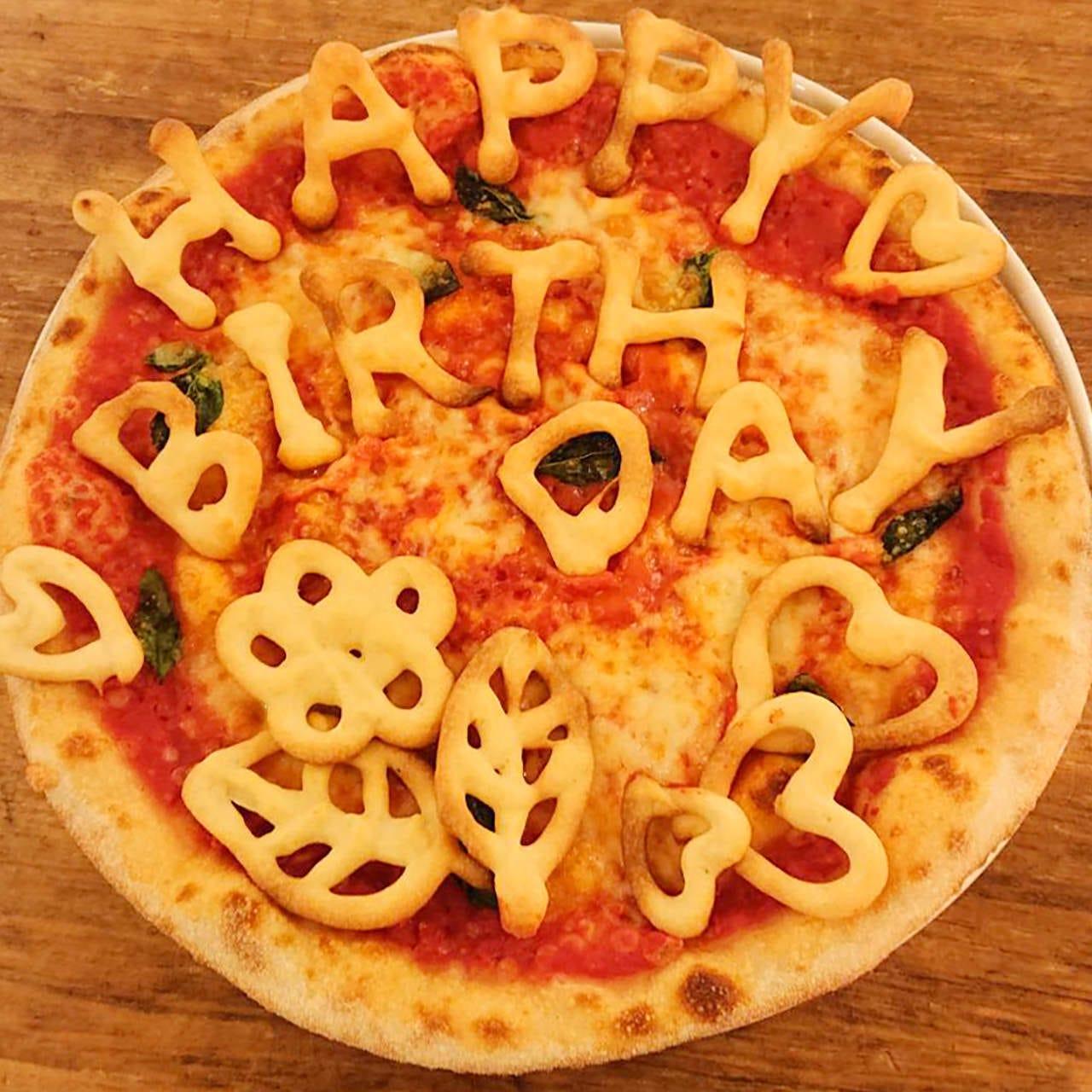 大切な日のお祝いもピッツァで