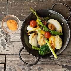 季節野菜の窯焼き