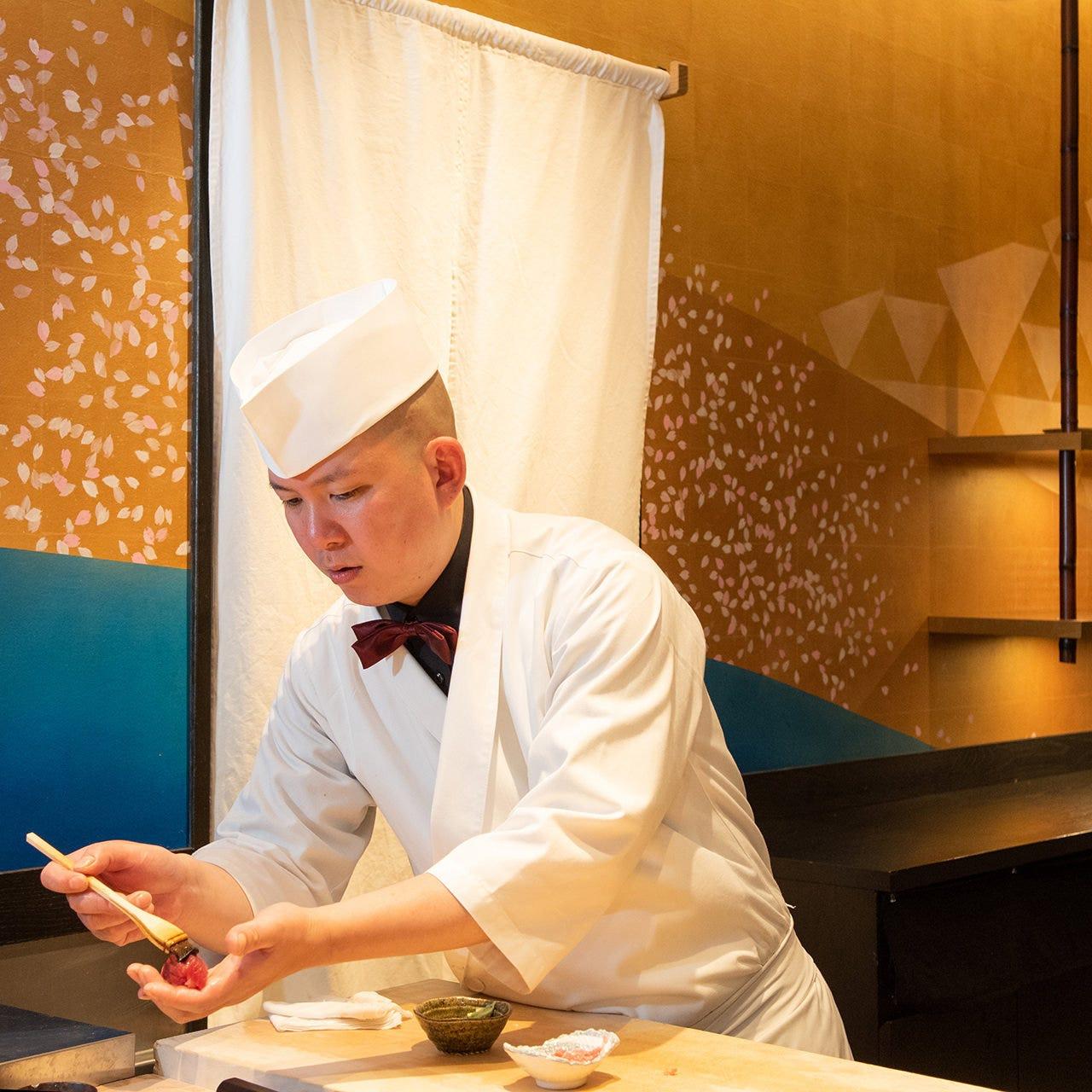 全国から集まった才能ある鮨職人の技が織り成す江戸前寿司
