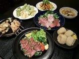 和風のセットコースでは旬の食材をお届けします!
