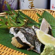 【hareja名物】藁焼き鰆の塩タタキ