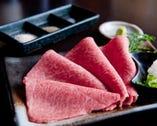 □■特選焼きしゃぶ■□ とろける極上肉をポン酢であっさりと!