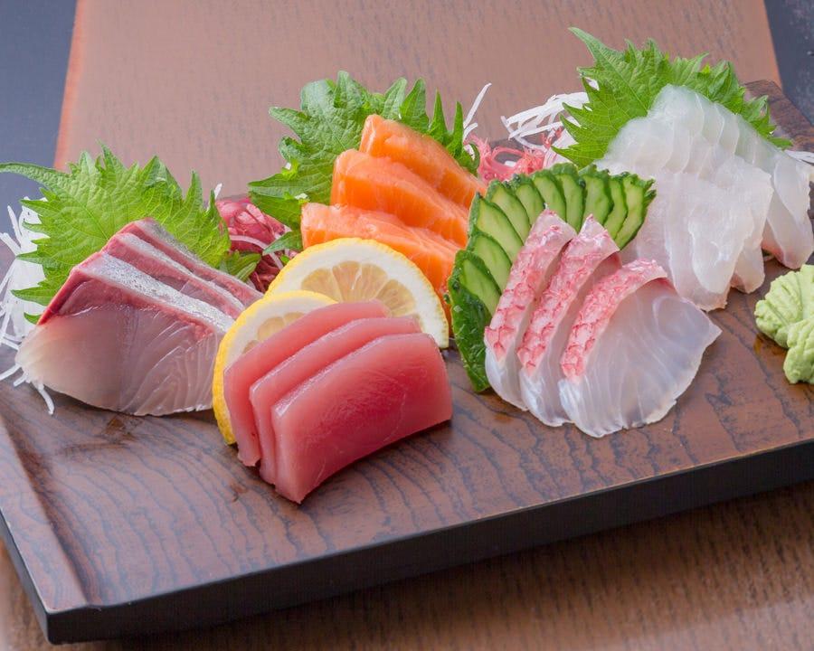◆新鮮な魚を刺身でご堪能ください