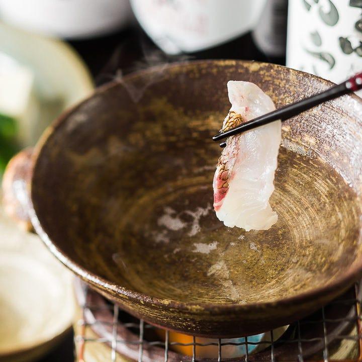 季節の旬素材を小鍋で味わう 自慢の会席料理をどうぞ