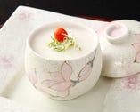 蒸し物:白子の茶碗蒸し