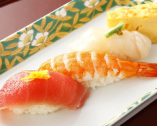 〆に、お寿司
