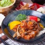 若鶏と季節野菜ときのこのあんかけ定食