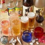 コースのご注文でお楽しみいただける飲み放題はメニューが多彩!オリオンビールやトロピカルサワー、泡盛など常時約60種を揃えております