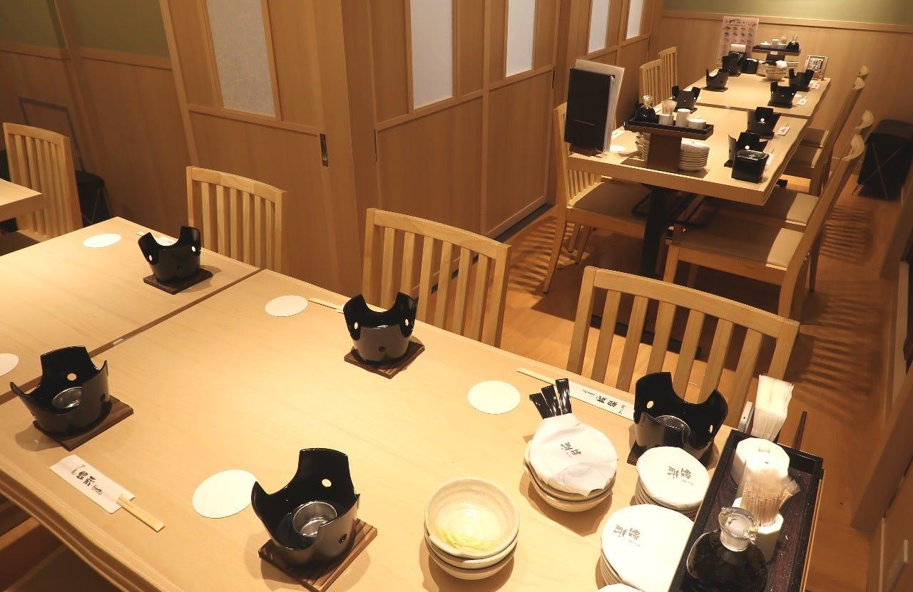 テーブル席・完全個室(壁・扉あり)・20名様