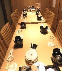 8名様テーブル個室 禁煙 ビル喫煙場ございます個室最大20名様