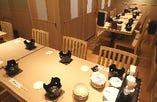 20名様テーブル個室貸切  禁煙 ビル喫煙場ございます