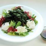 岩のりと豆腐の海藻サラダ 和風醤油ドレッシング