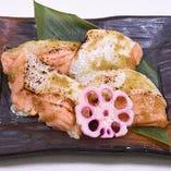 鮭ハラス柚子胡椒焼き