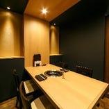 接待やおもてなしの席に最適なテーブル席完全個室(~4名様×3部屋)