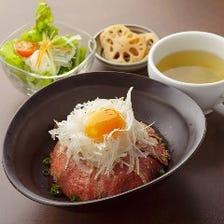 【おすすめ】仙台牛ローストビーフ丼ランチ